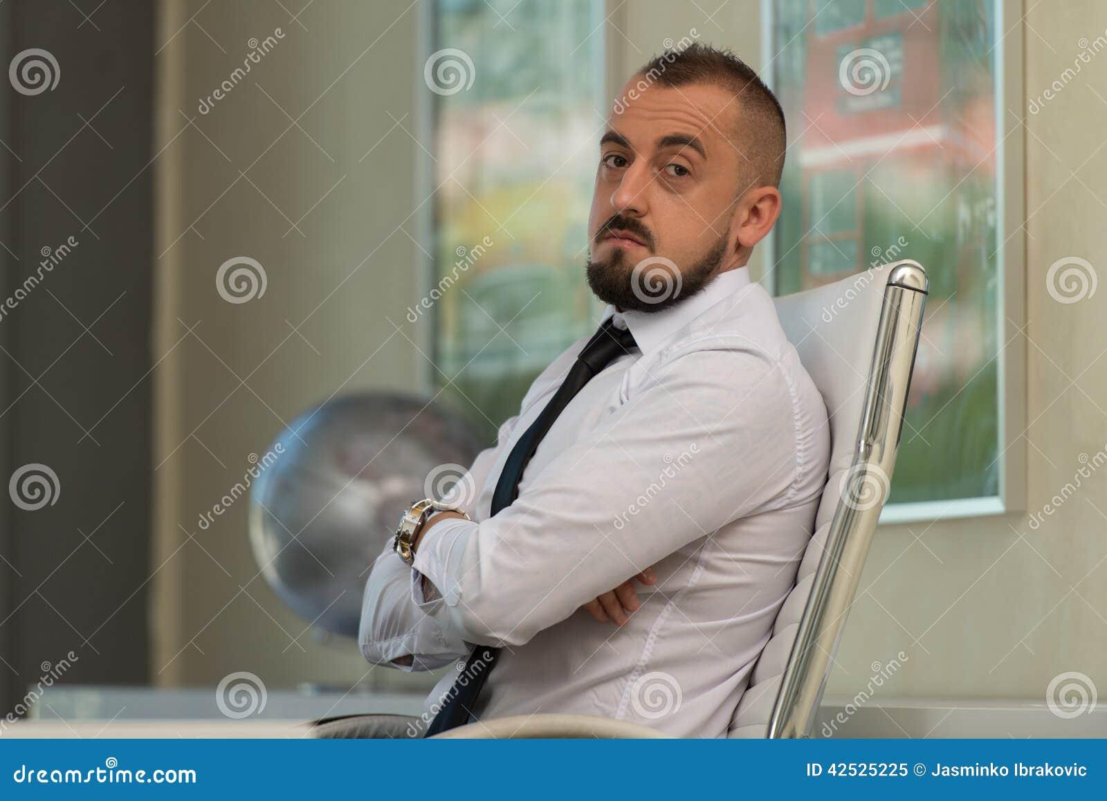 Portret młody biznesmen