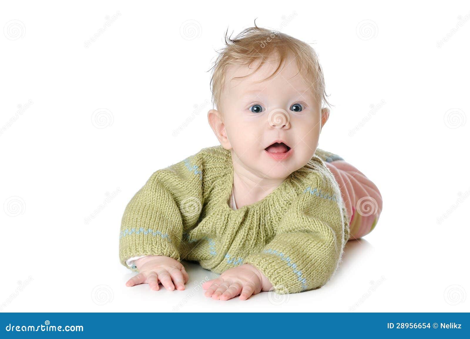 Portret pięć miesięcy starej dziewczynki