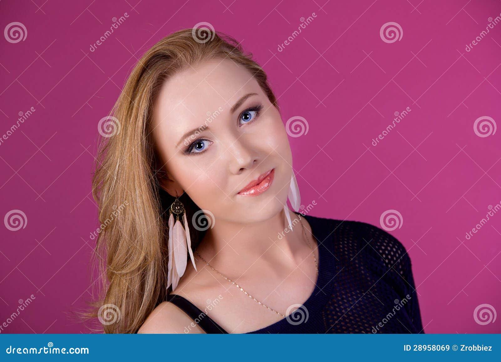 Portret piękna dziewczyna