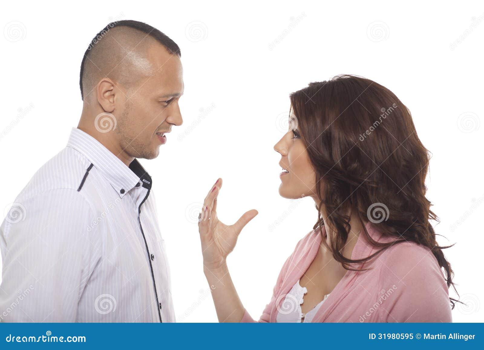 Portret potomstwo pary rozmowa