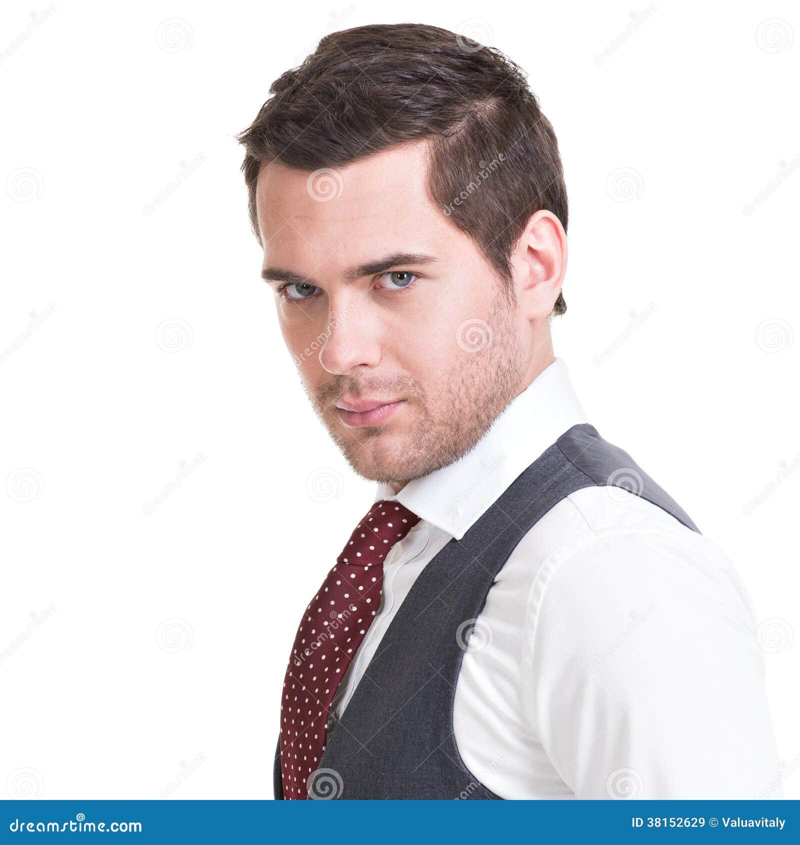 Portret przystojny mężczyzna w kostiumu.
