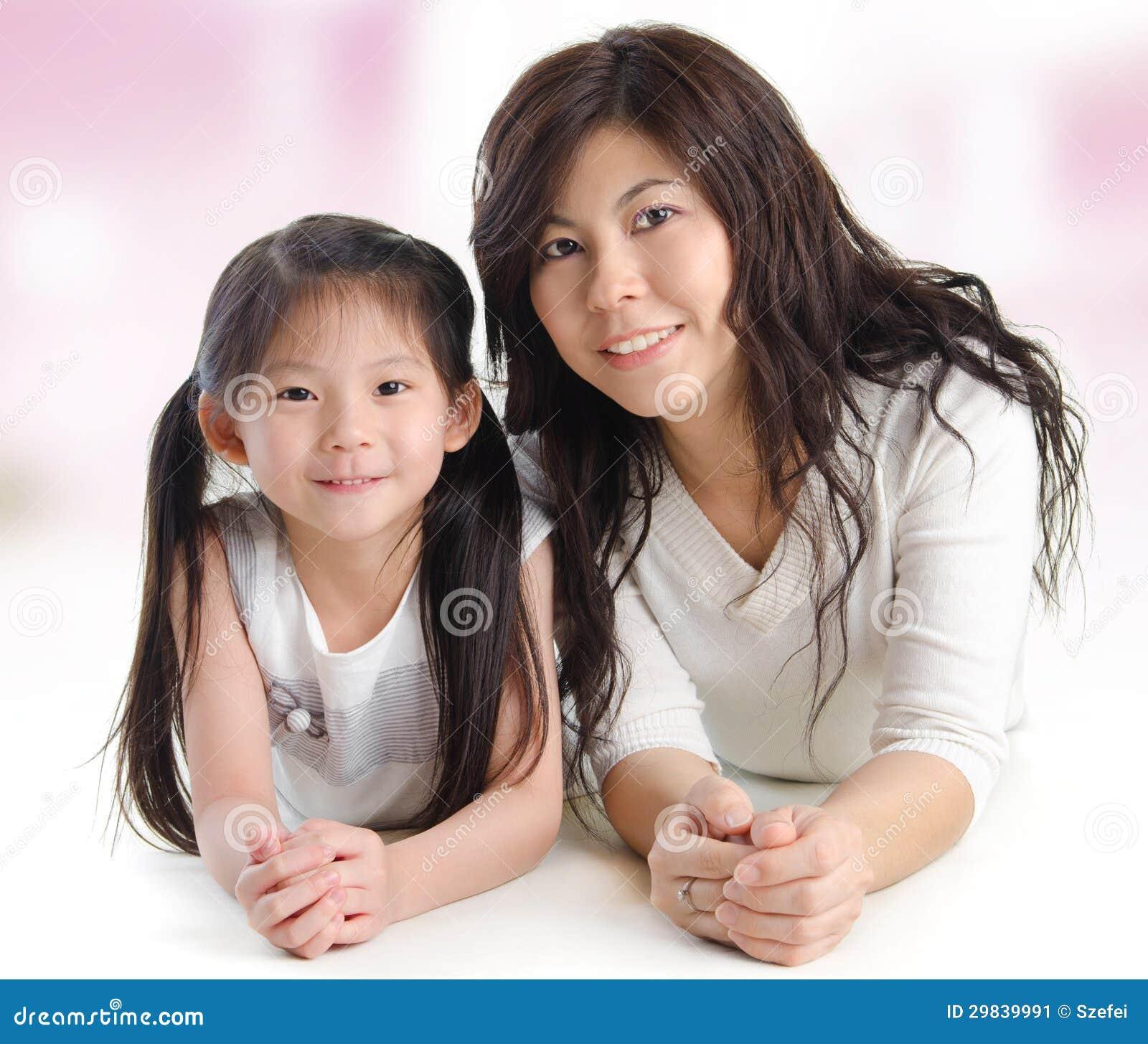 Portret radosna matka i jej córka