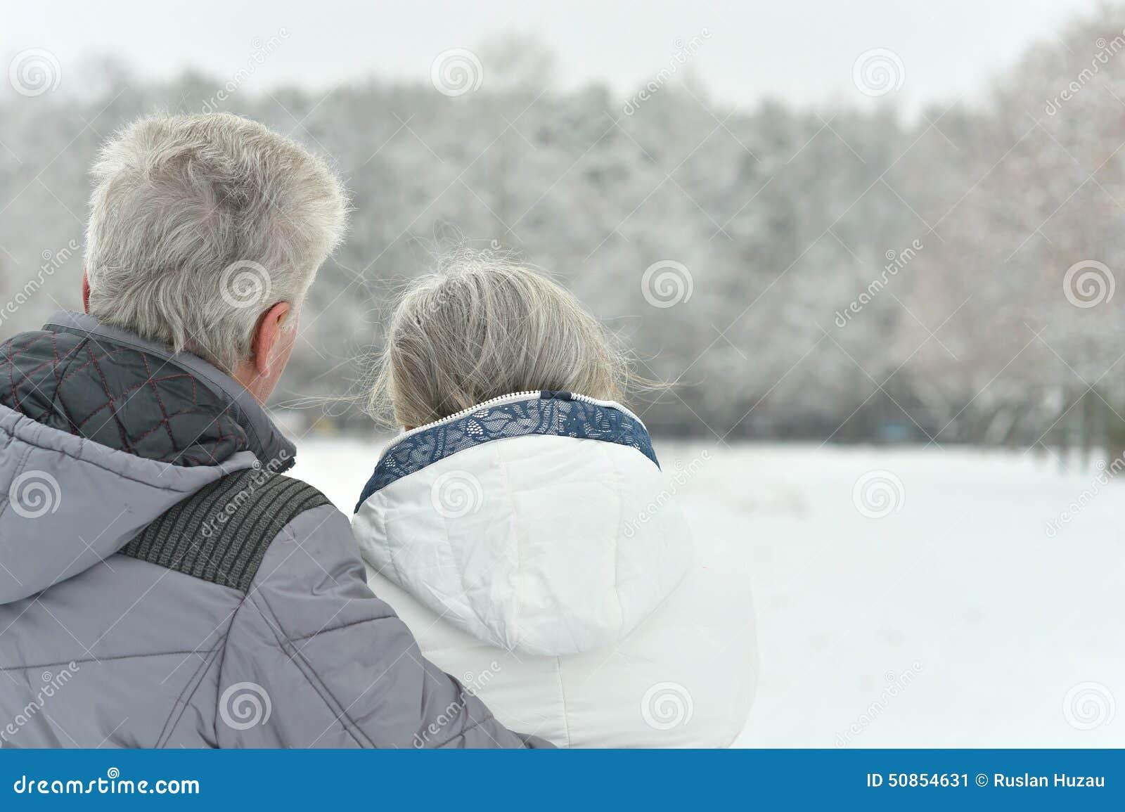 Portret starszej osoby para
