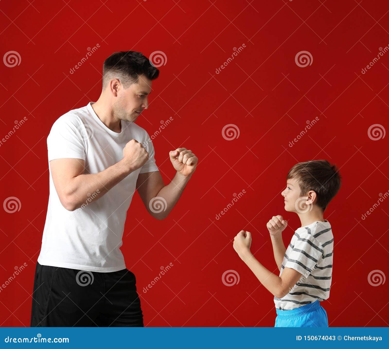 Portret tata i jego syna boks