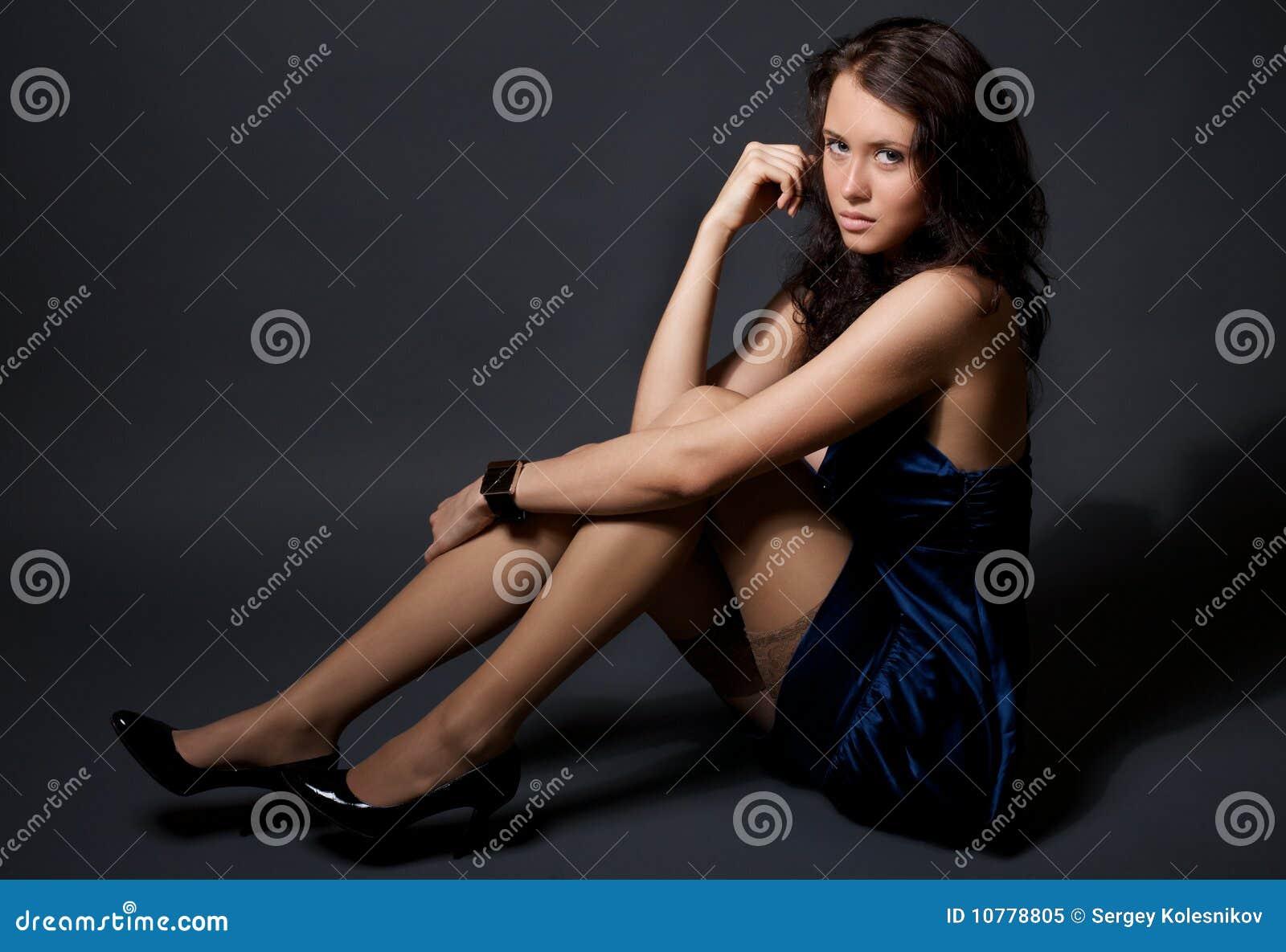 Portret van aantrekkelijk jong model