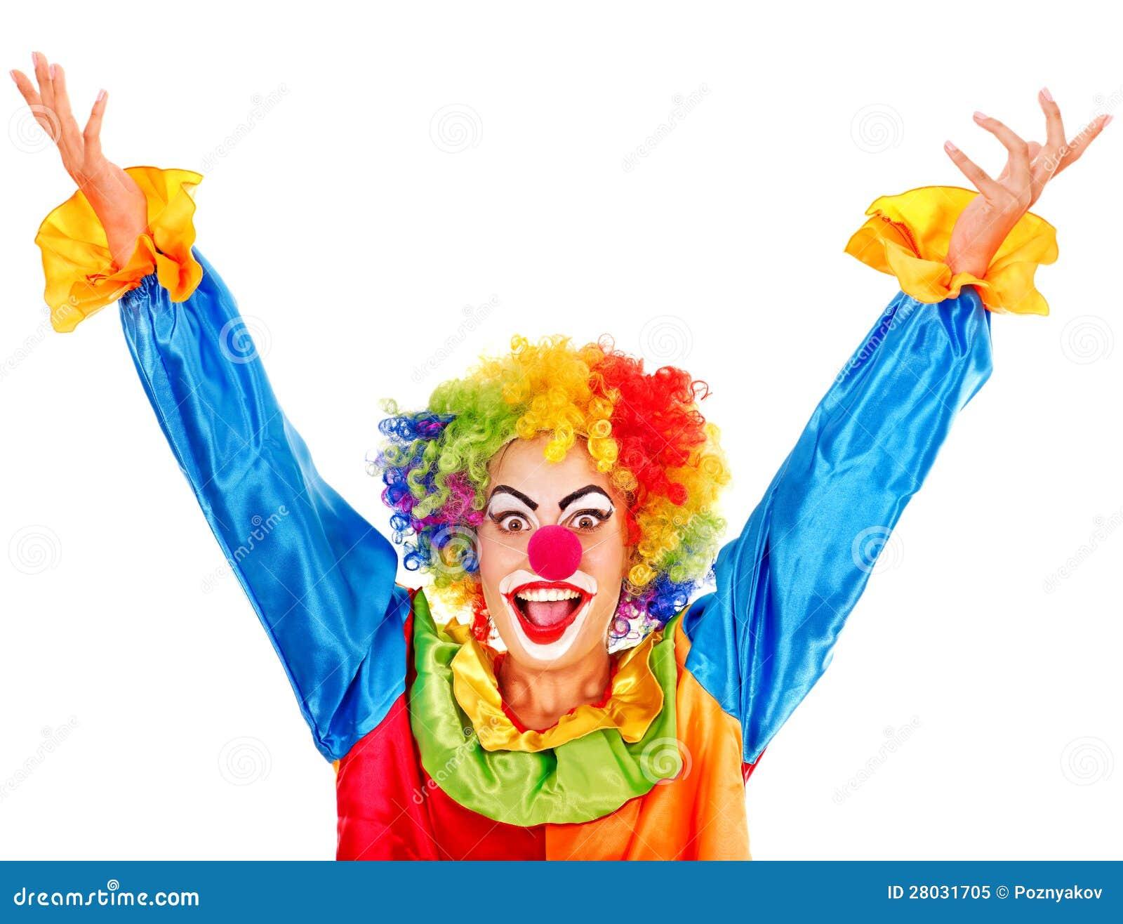 Portret van clown.