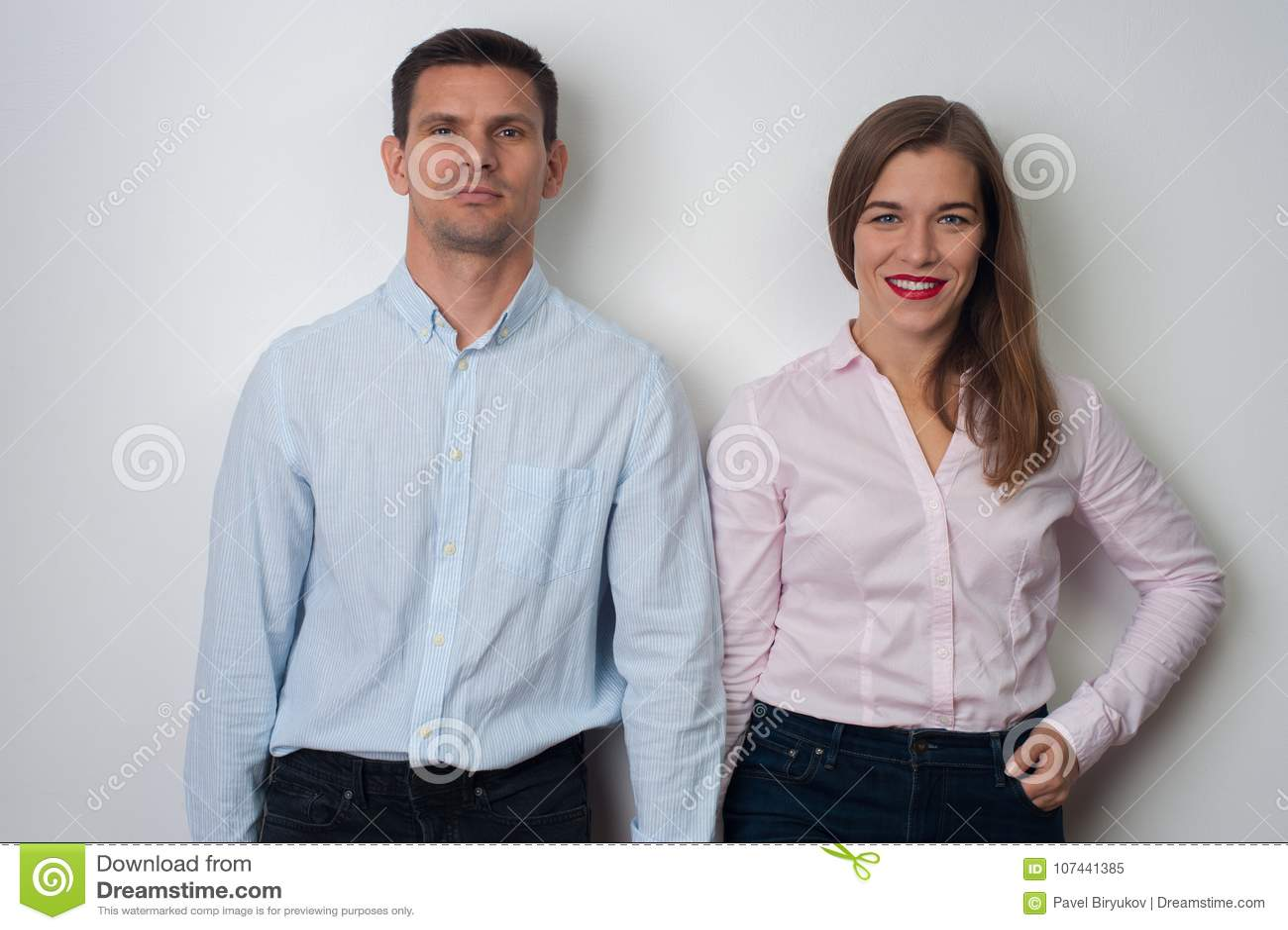 Portret van de mens en vrouw