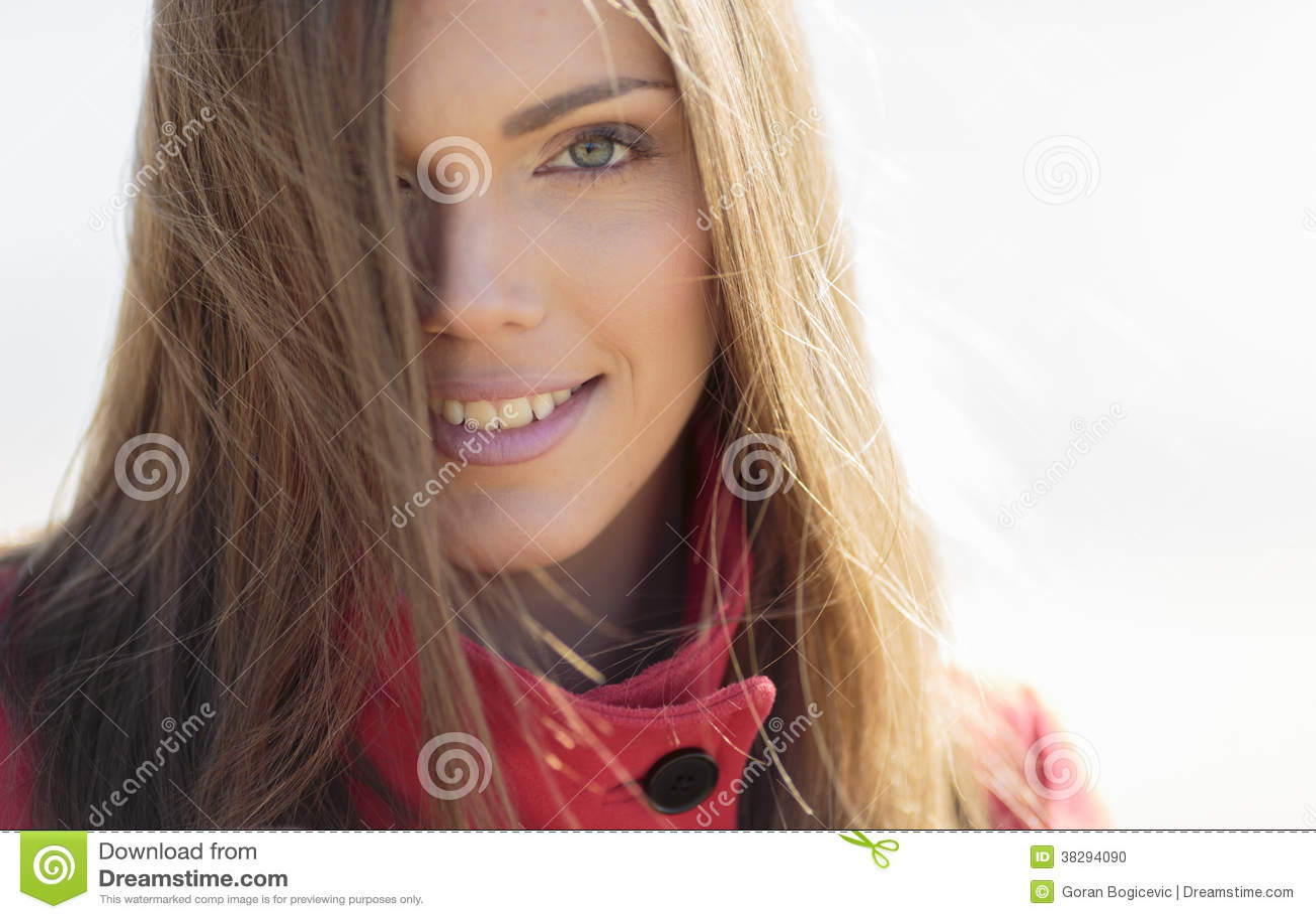 Portret van de vrij jonge vrouw