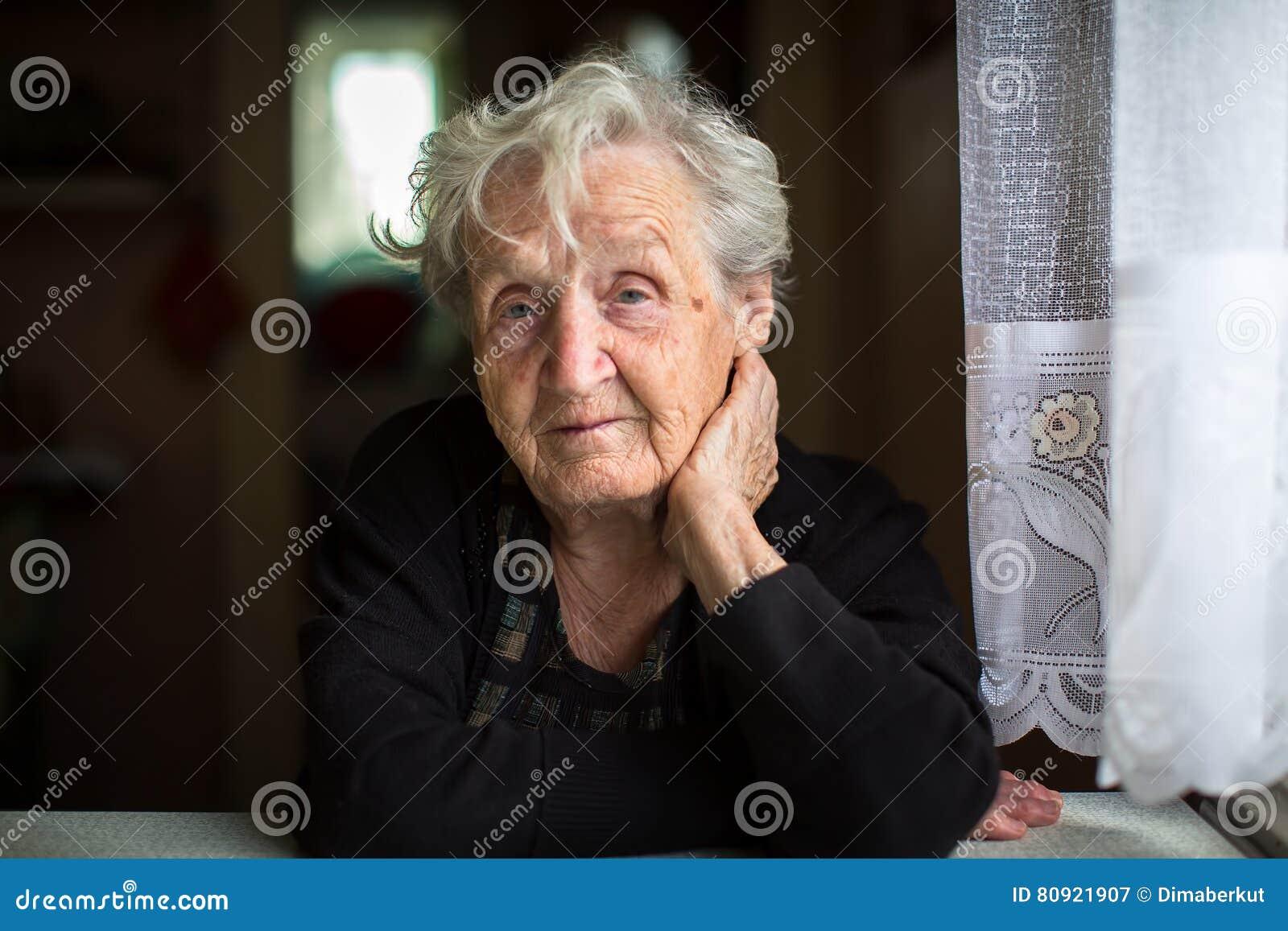 Portret van een bejaarde