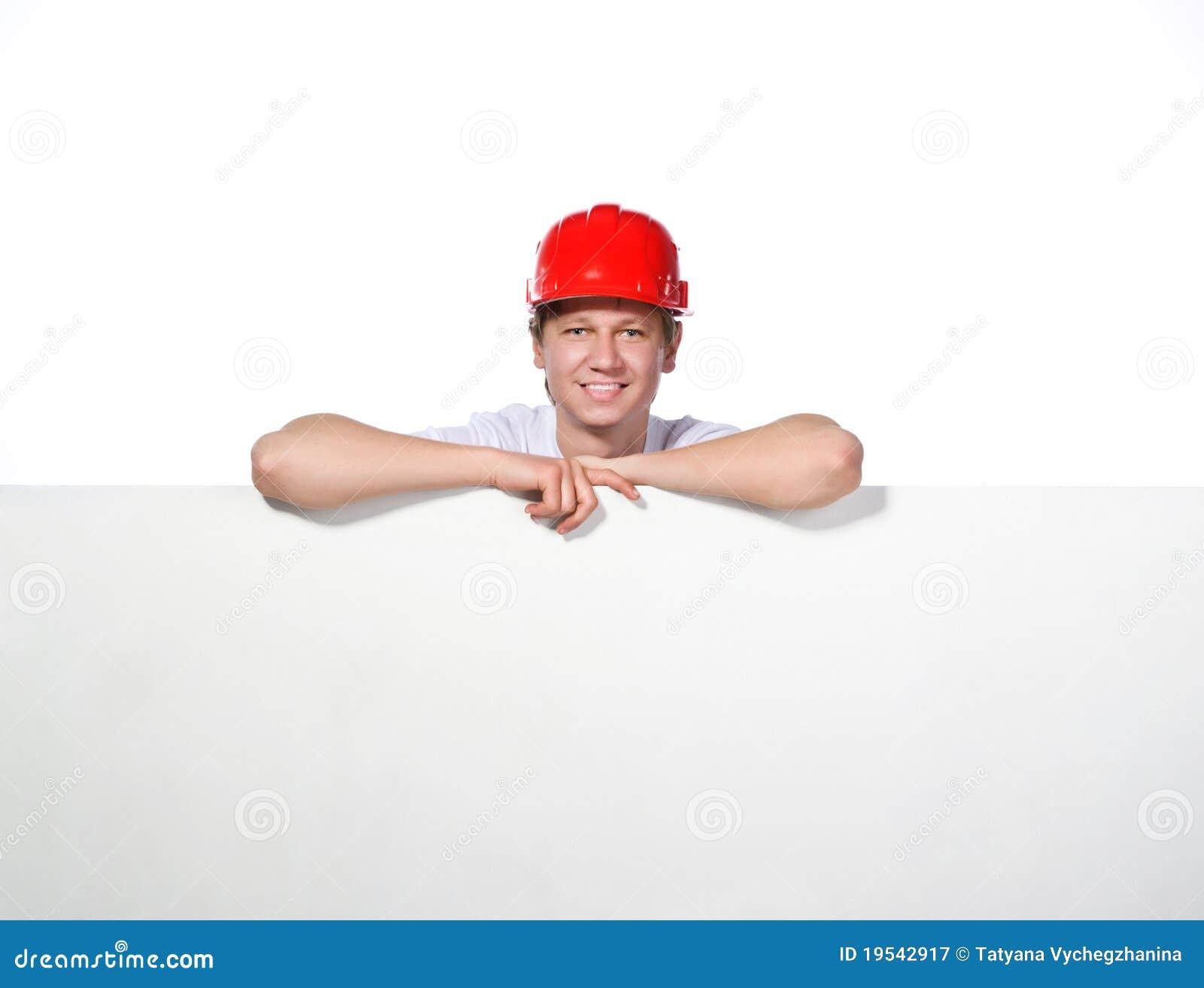 Portret van een bouwer