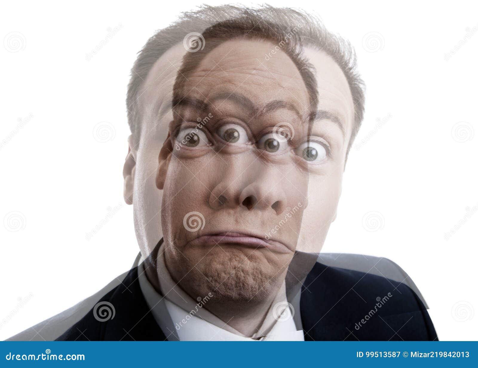 Portret van een mens met een geestelijke ziekte