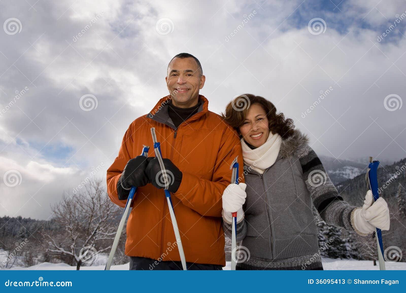 Portret van een rijp paar