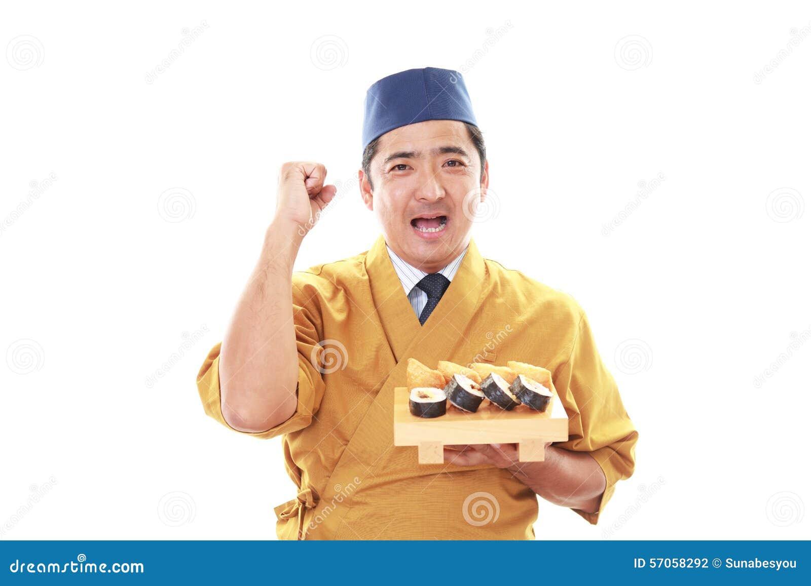Portret van een sushichef-kok