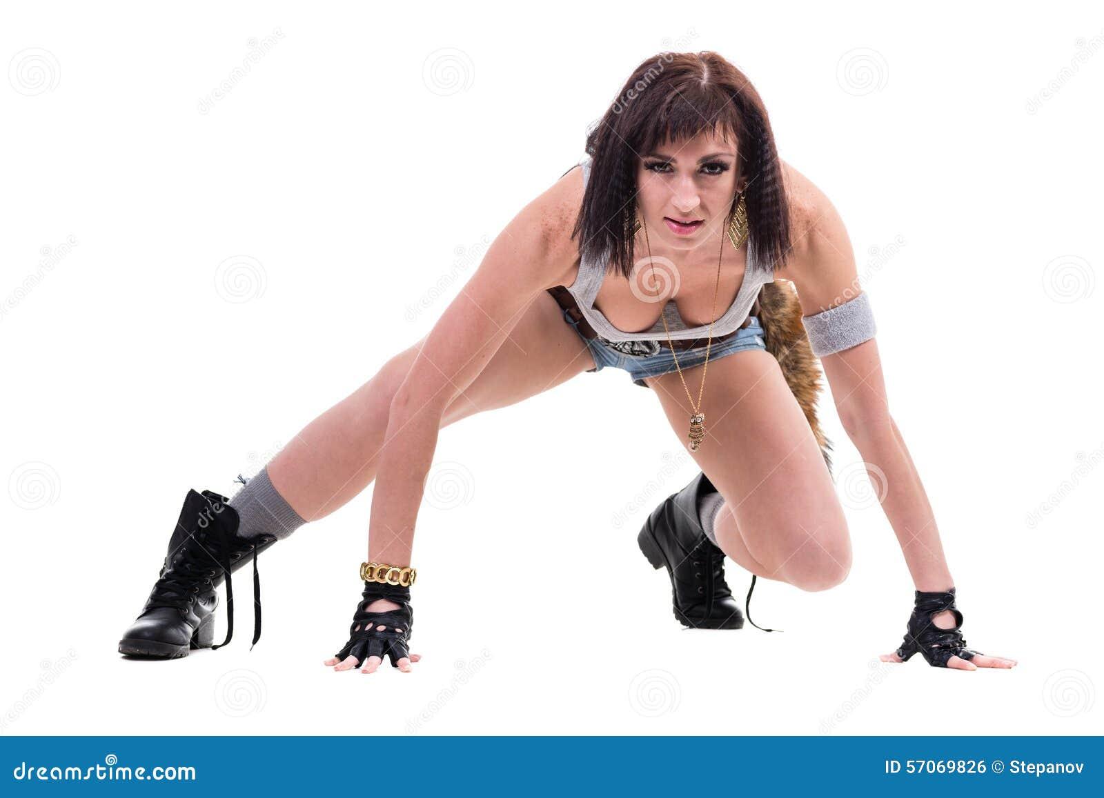 Portret van het mooie vrouwelijke danser stellen