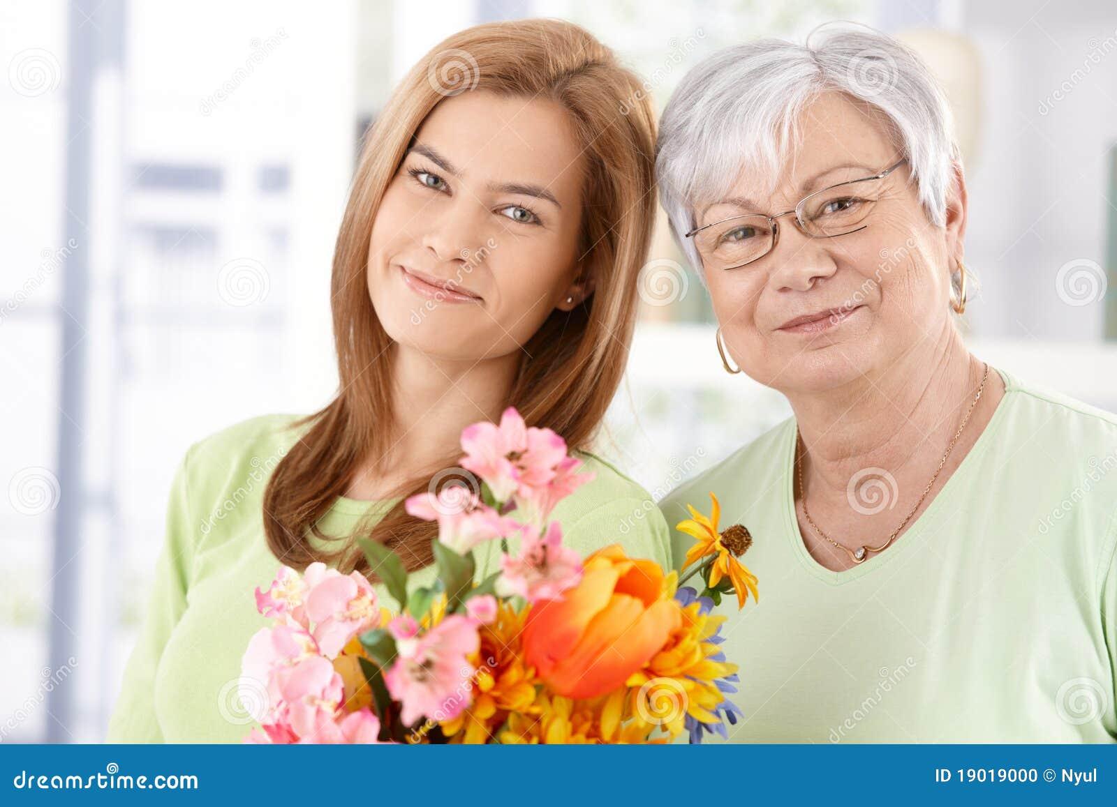Portret van moeder en dochter bij Moederdag