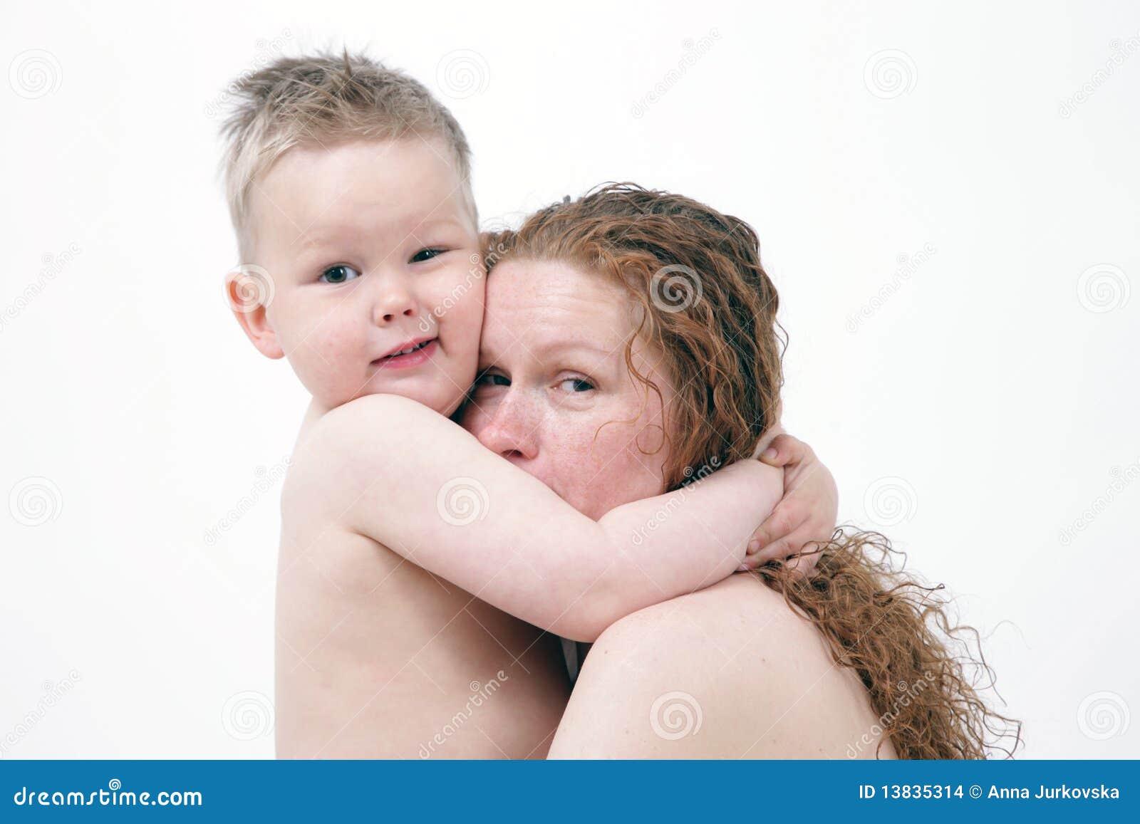 Portret van moeder met prachtige zoon