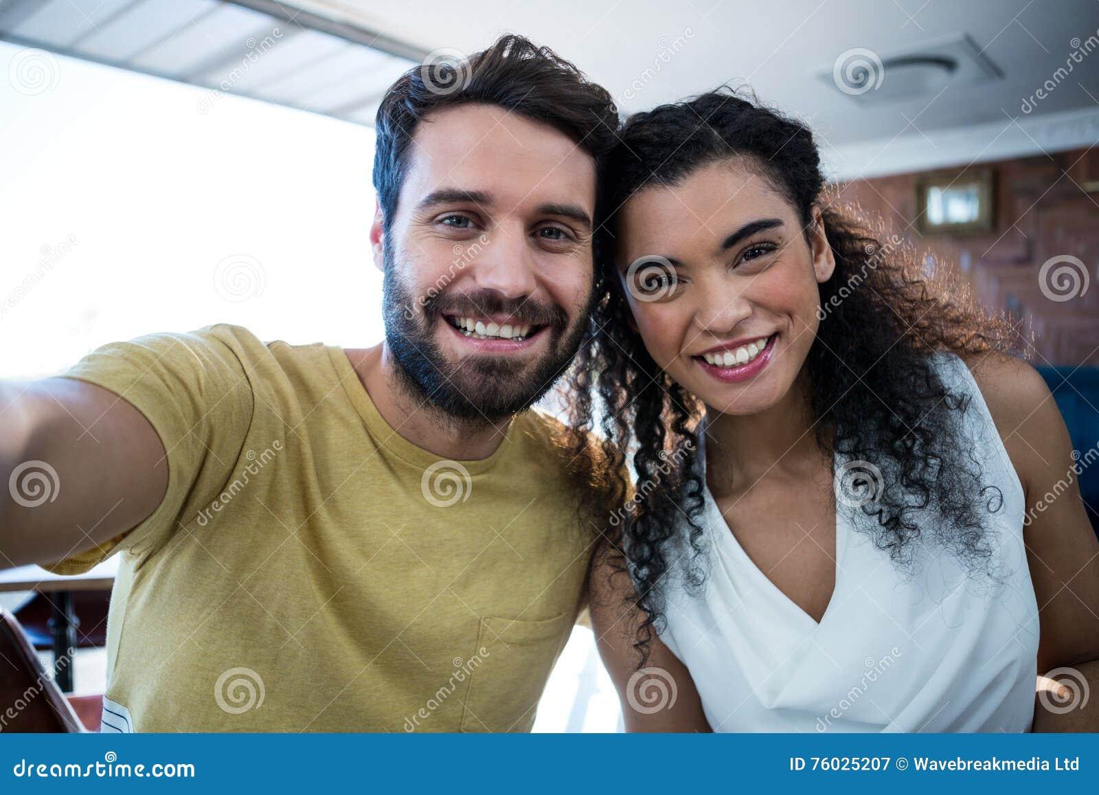 Portret van romantisch paar