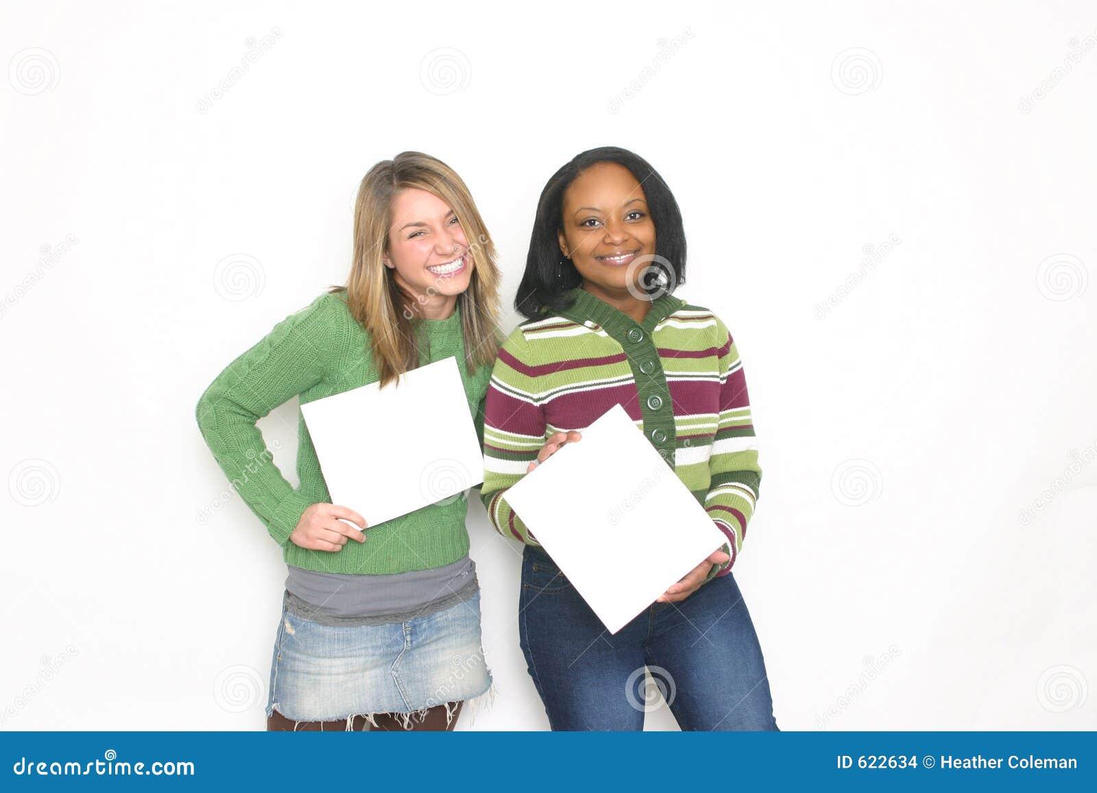 Portret van twee meisjes