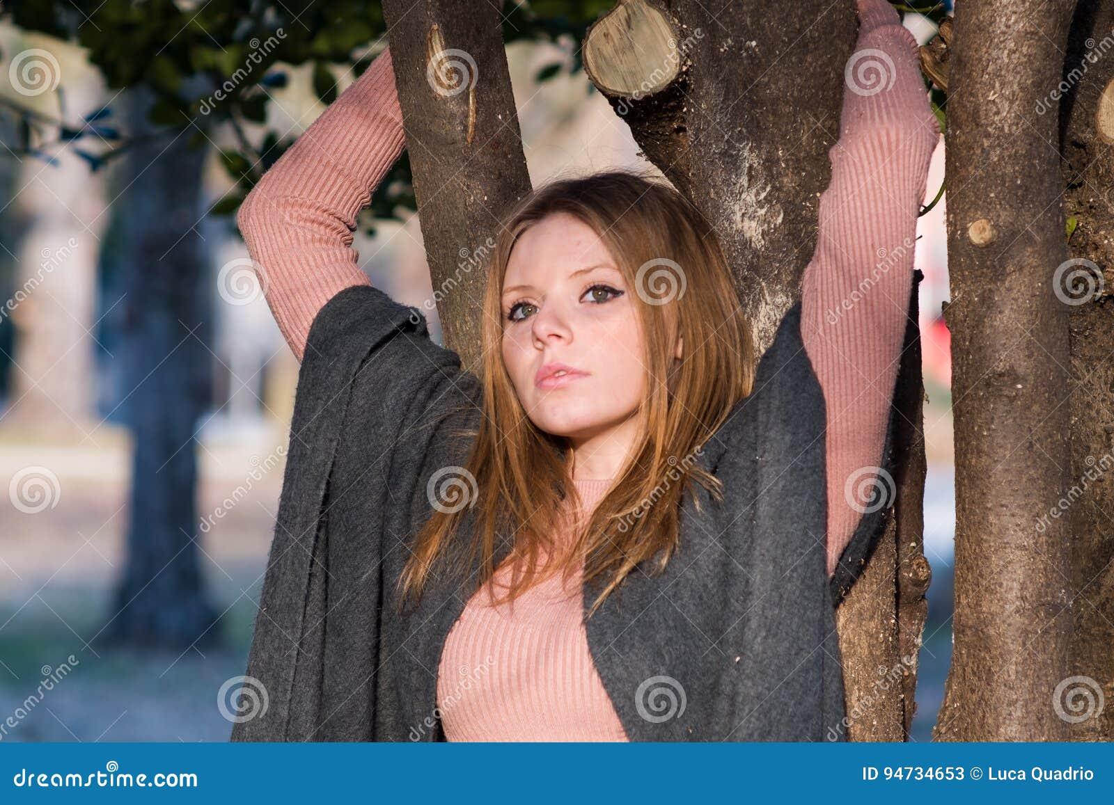 Portret w parku