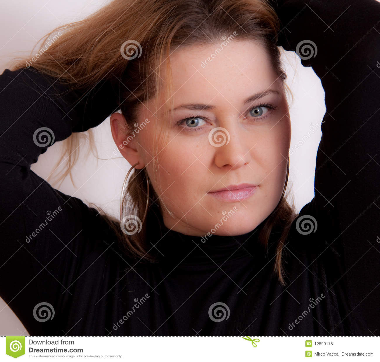 Download Portret of a woman stock image. Image of female, hair - 12899175