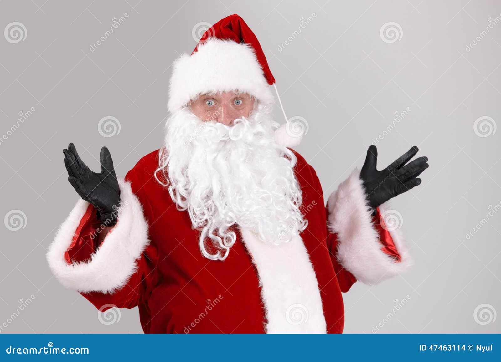 Portret zdziwiony Święty Mikołaj