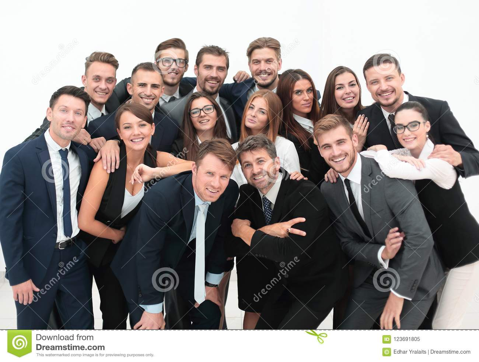 Portretberoeps een groot commercieel team