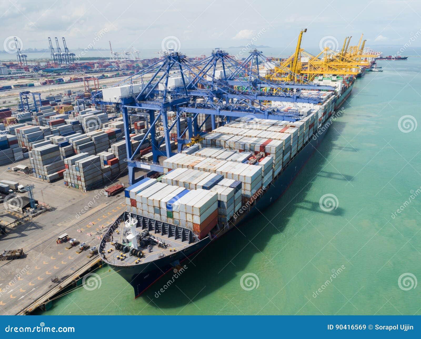 Ports maritimes de paysage le temps de jour