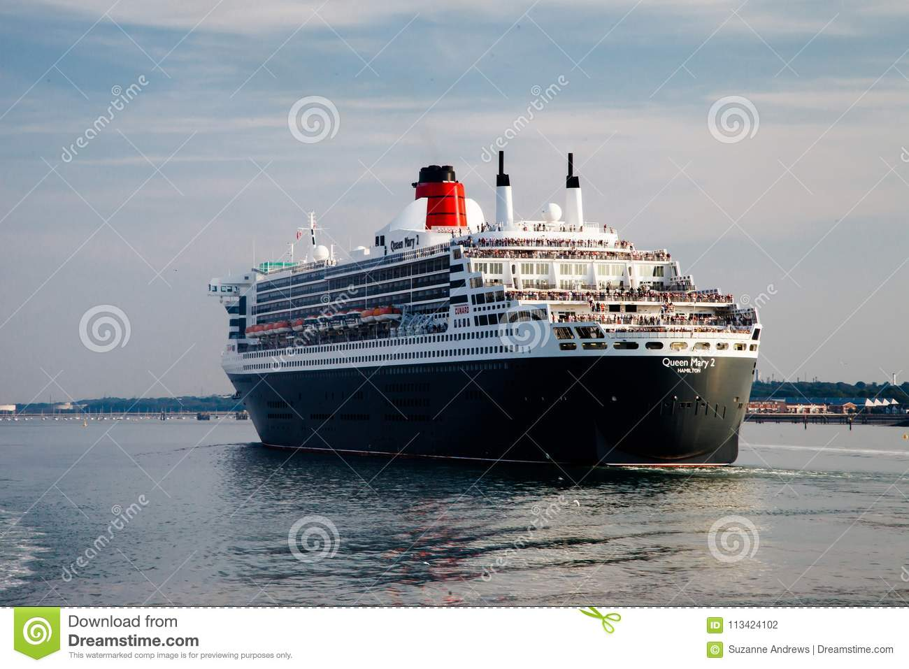Portsmouth, Großbritannien, am 9. September 2014 - Queen Mary II-Schiff