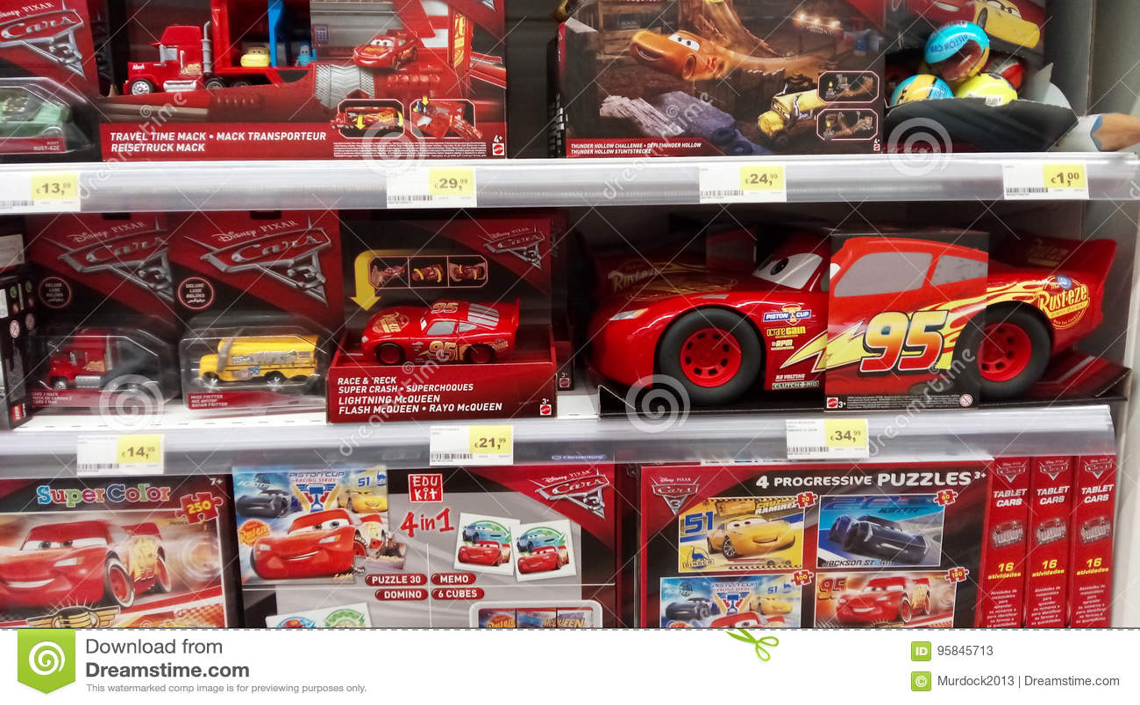 Cars Pixar Movie Toys Editorial Stock Photo Image Of Mcqueen