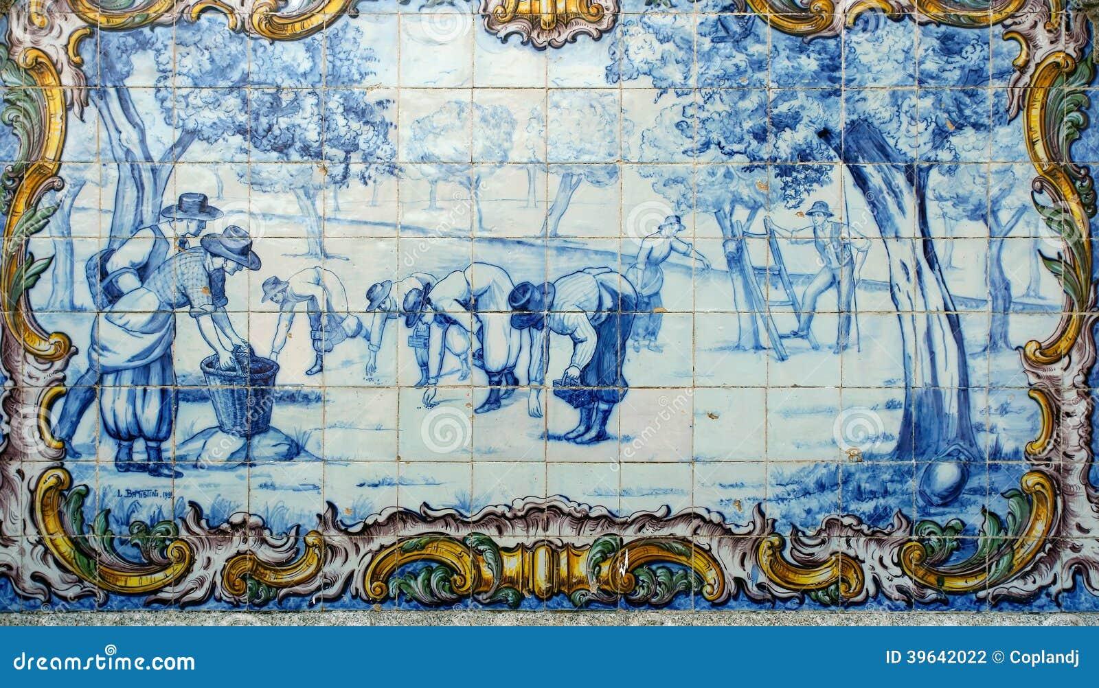 Portugal azulejos hist ricos de azulejo foto de stock for Azulejos de portugal