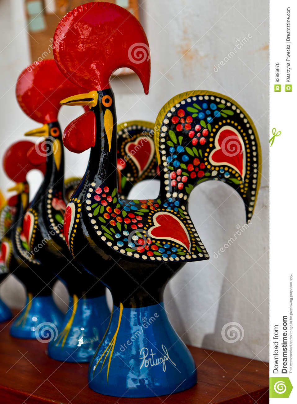 Portugal Ceramic Rooster Stock Photo Image Of Portuguese 83896670