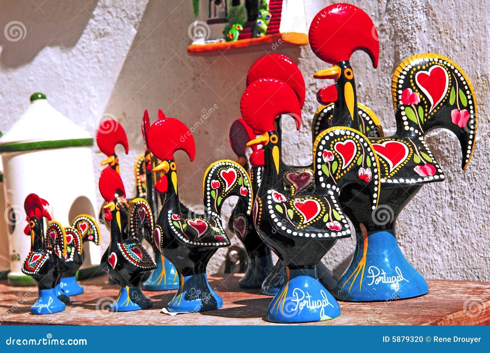Portugal; ein keramischer Hahn