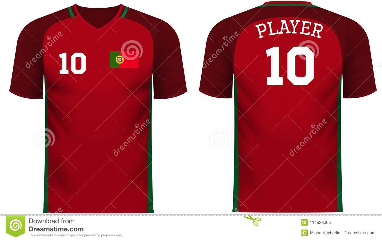 1035b0371 Portugal national soccer team shirt in generic country colors for fan  apparel. More similar stock illustrations