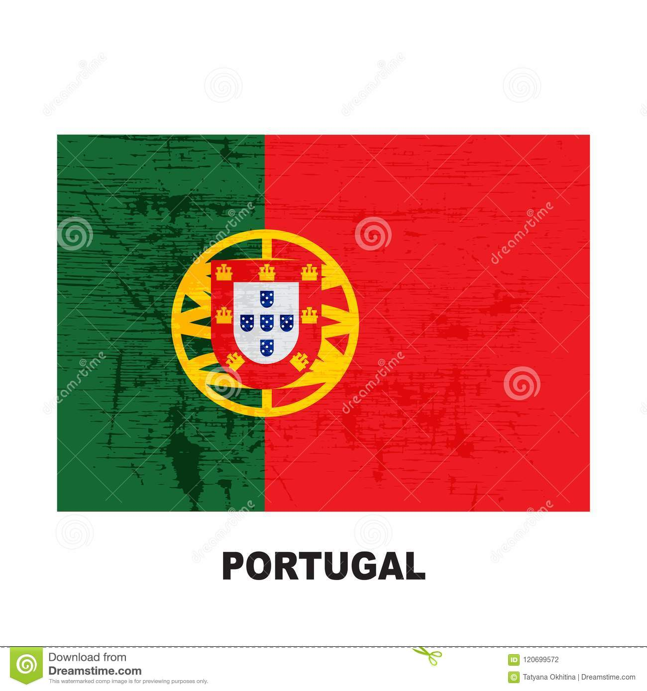 Flags Grunge 40 Stock Vector Illustration Of Blot Portuguese