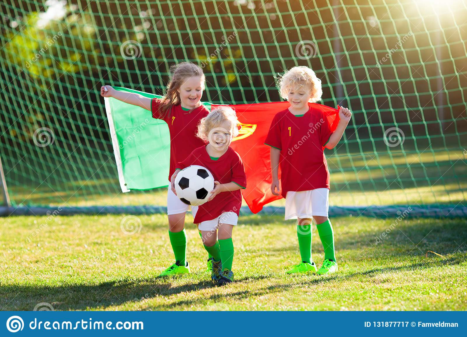 Should Kids Be Allowed To Play Soccer >> Portugal Football Fan Kids Children Play Soccer Stock Image Image