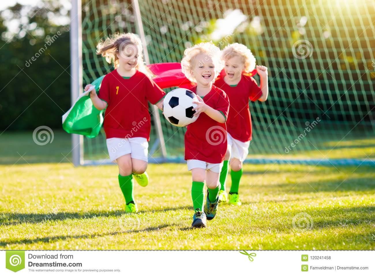 Should Kids Be Allowed To Play Soccer >> Portugal Football Fan Kids Children Play Soccer Stock Photo