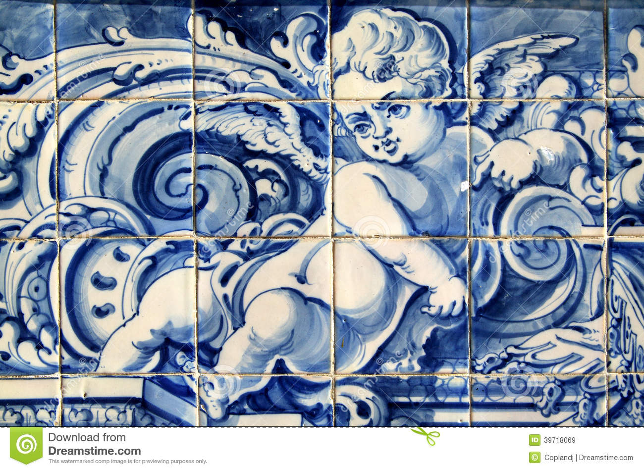 Portugal historical azulejo ceramic tiles stock image for La casa del azulejo san francisco