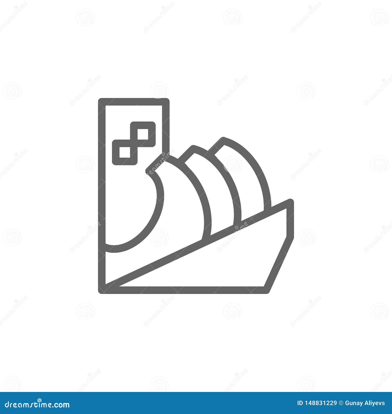 Portugal, icono del monumento Elemento del icono de Portugal L?nea fina icono para el dise?o y el desarrollo, desarrollo del siti