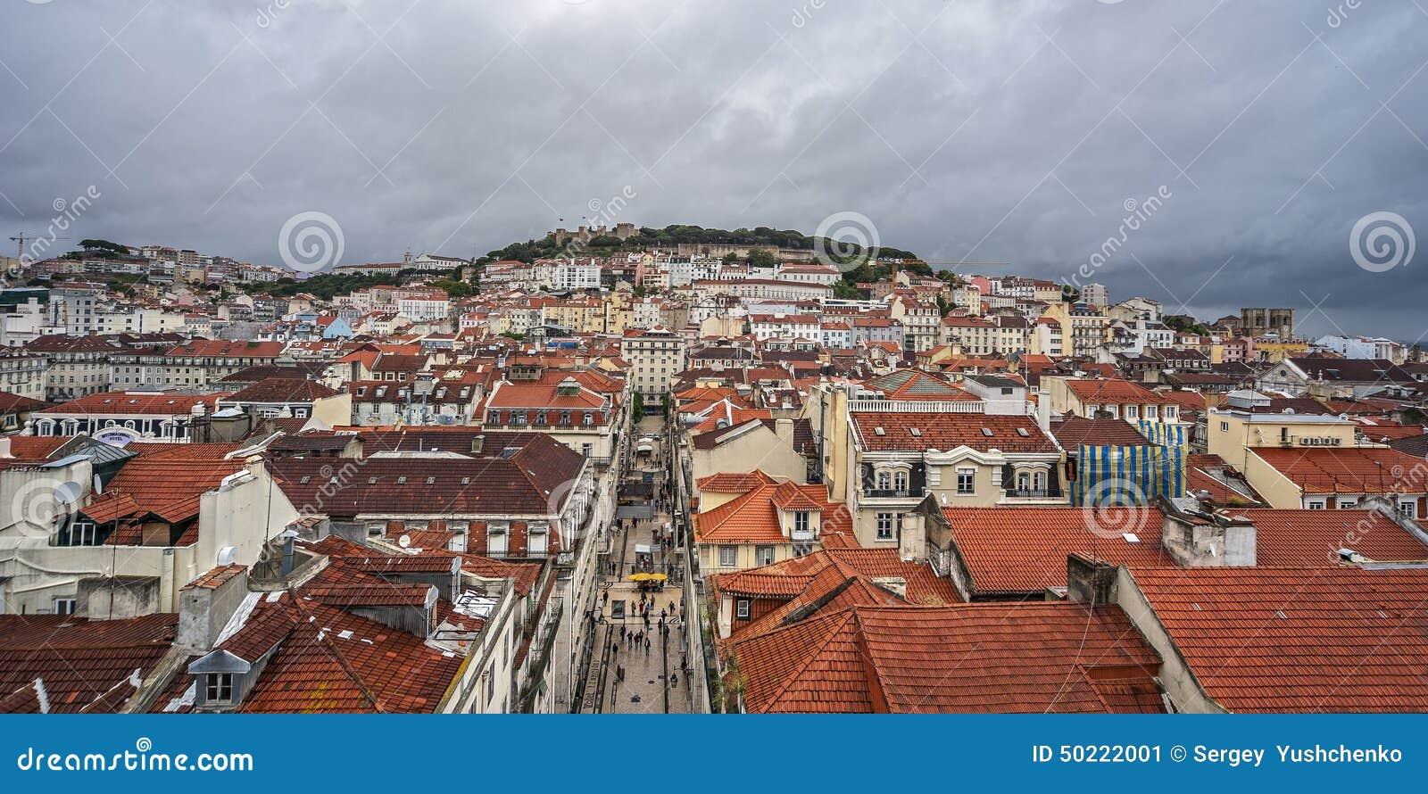 Portugal, Lisboa Desde arriba de Santa Justa Elevat famosa