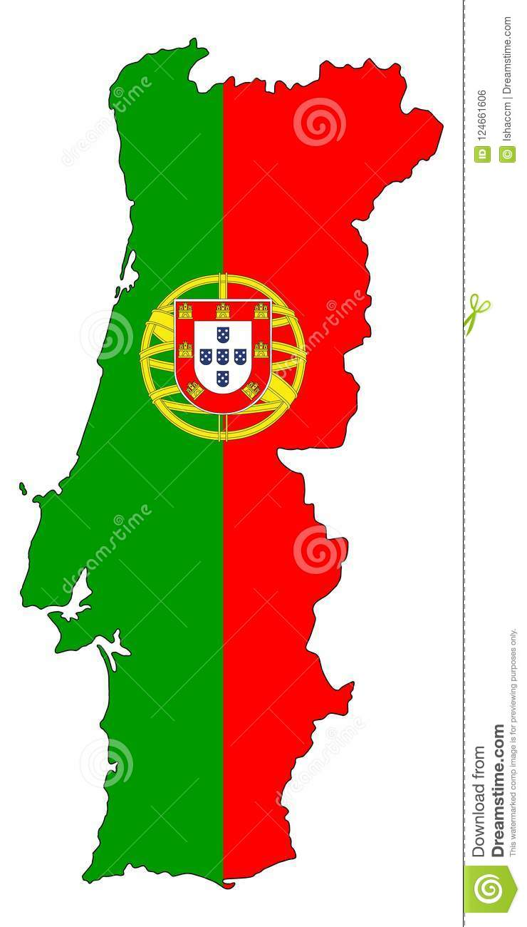 Portugal .Map of Portugal vector illustration