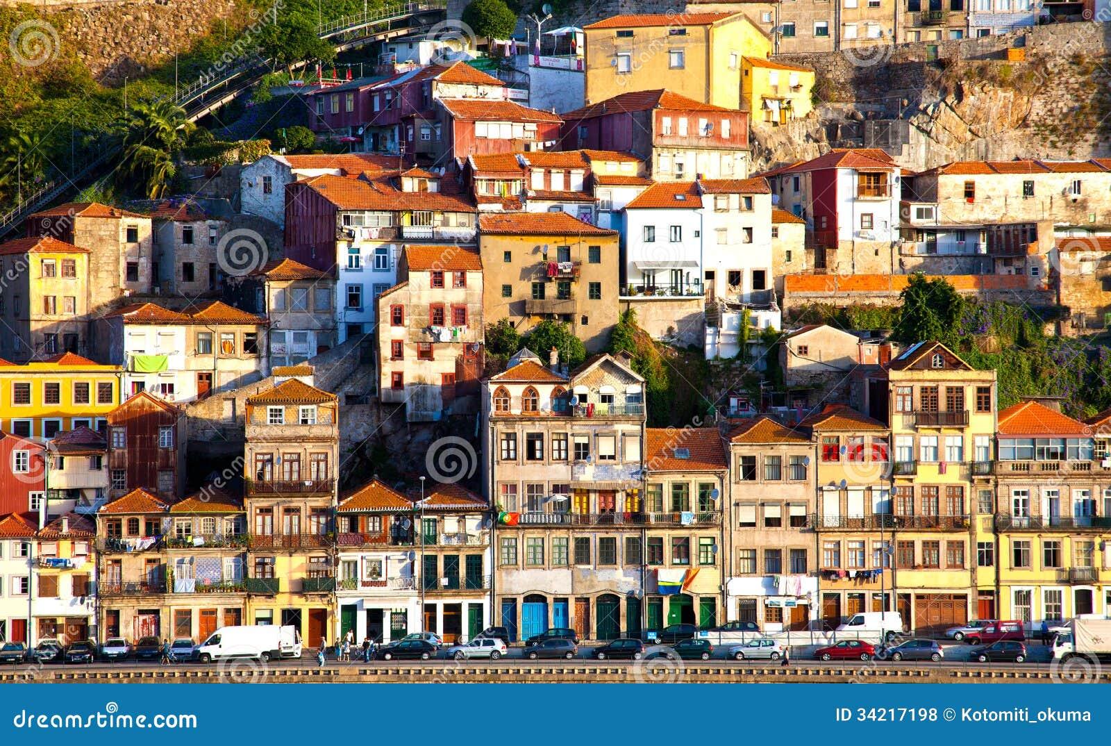 Portugal Porto City View Of Douro River Embankment Editorial