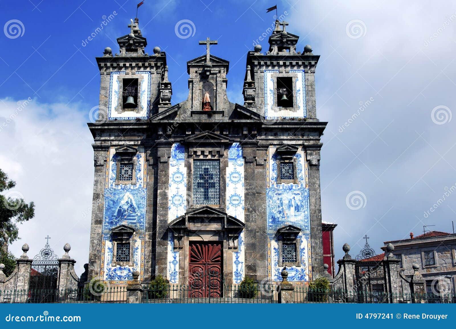 Portugal, Porto; de oude kerk van Carmo