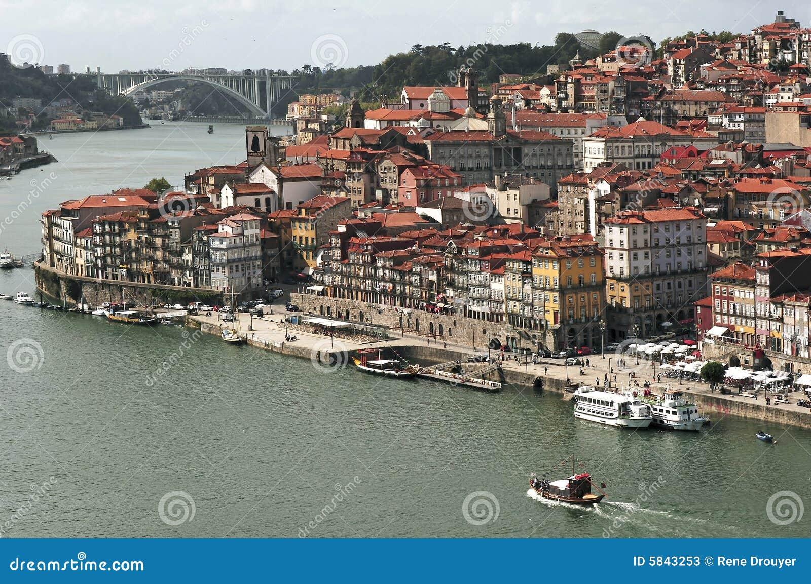 Portugal, Porto; mening van de oude stad