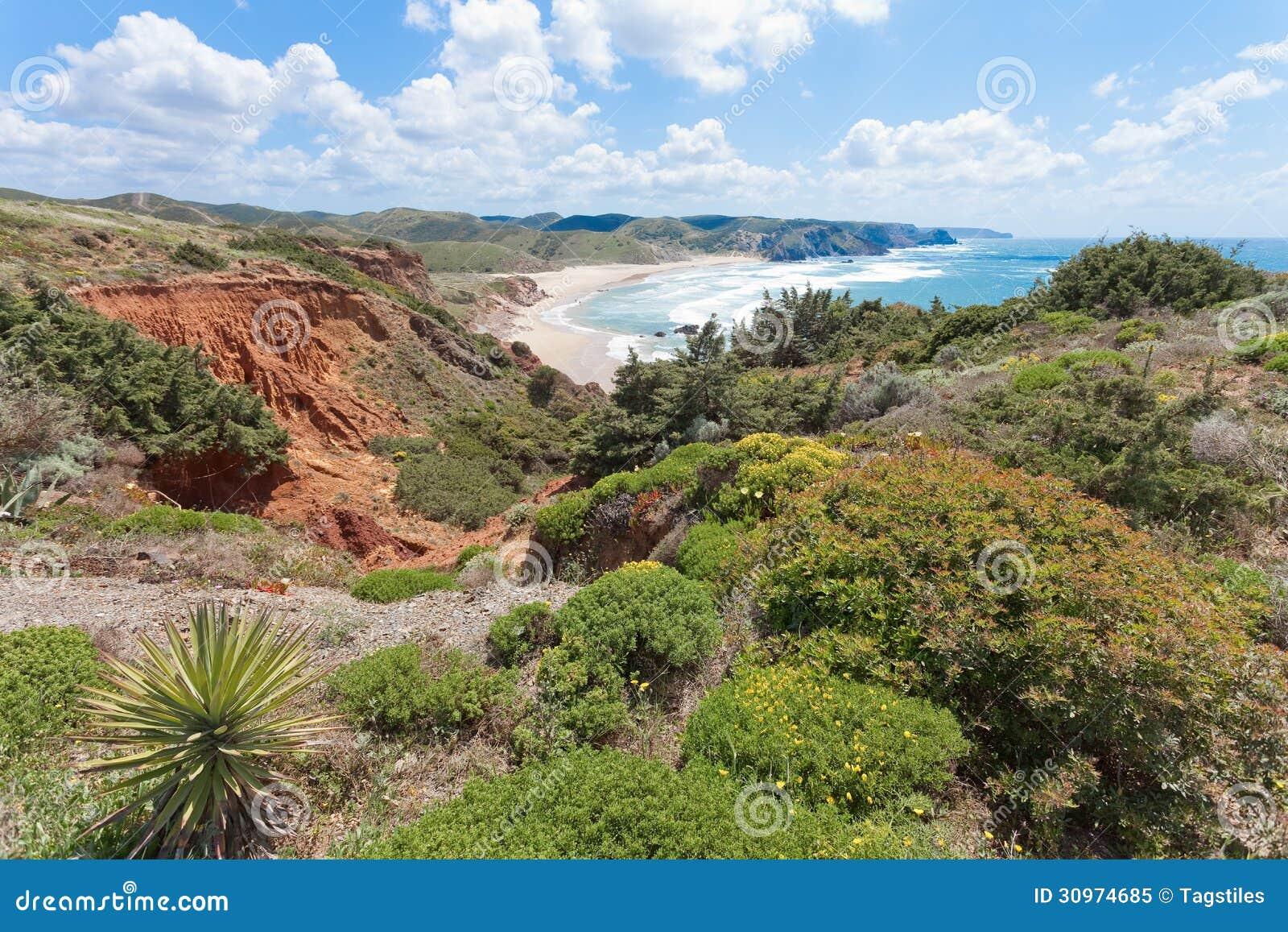 Download Portugal - Praia tun Amado stockbild. Bild von feiertag - 30974685