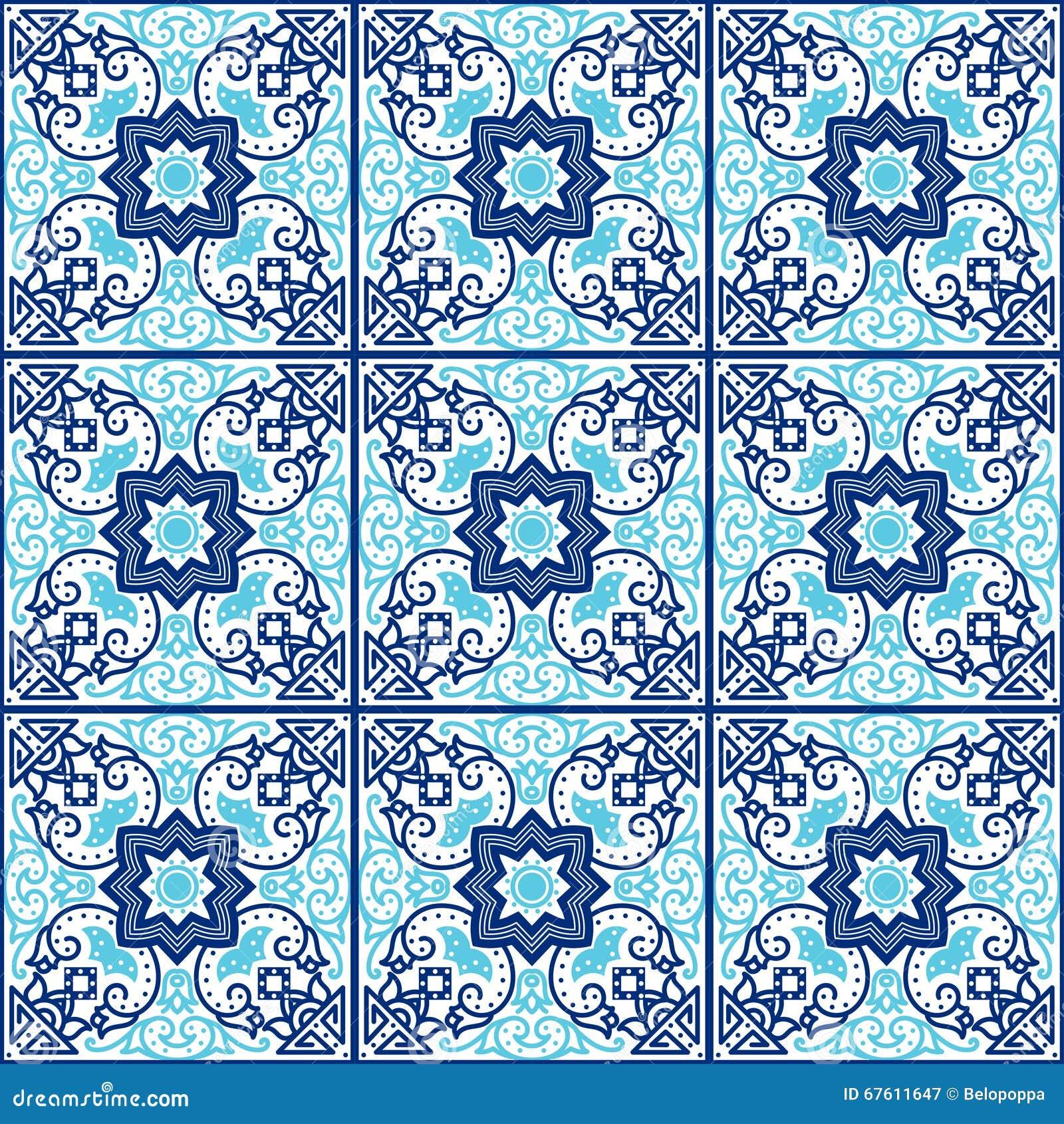 Portugiesische azulejo Fliesen Nahtlose Muster