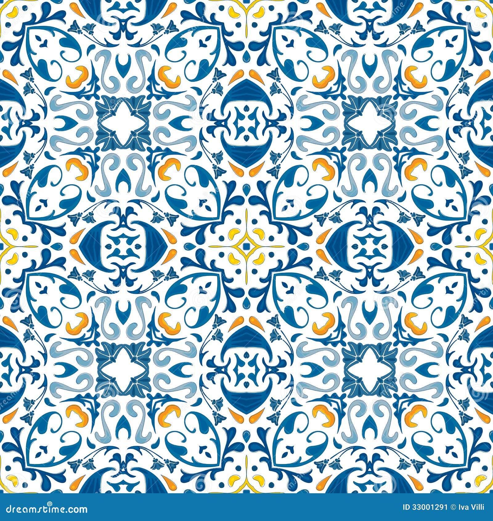 portugiesische fliesen vektor abbildung illustration von fliesen 33001291. Black Bedroom Furniture Sets. Home Design Ideas