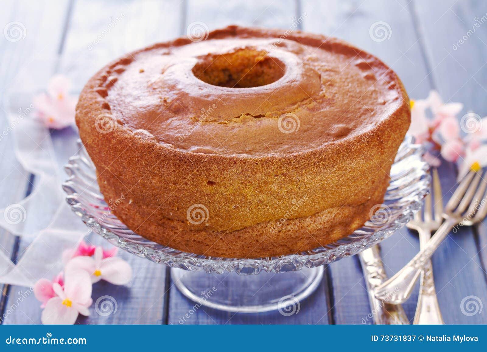 Portugiesischer Traditioneller Kuchen Pao De Lo Stockbild Bild Von