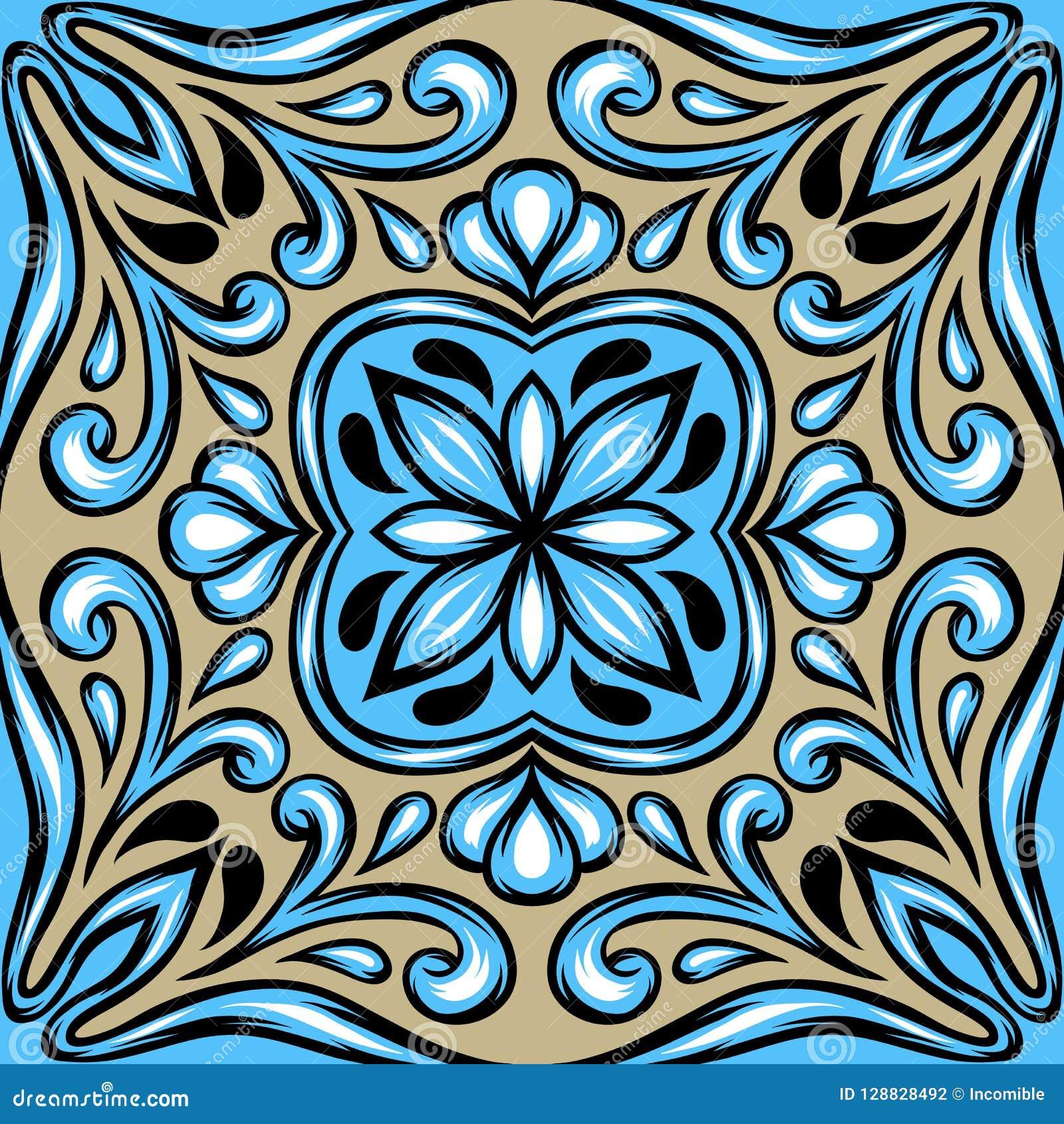 Portugiesisches azulejo Keramikziegel