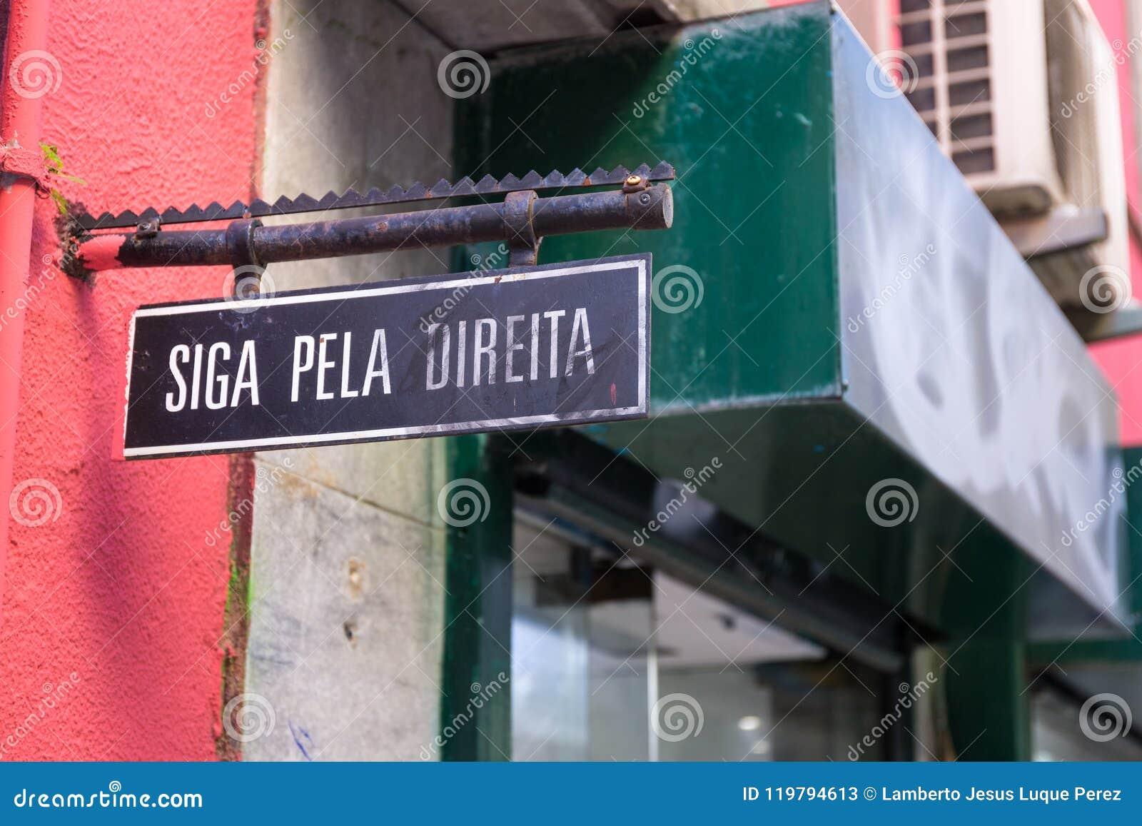 Portugisisk höger plakatuppehälle