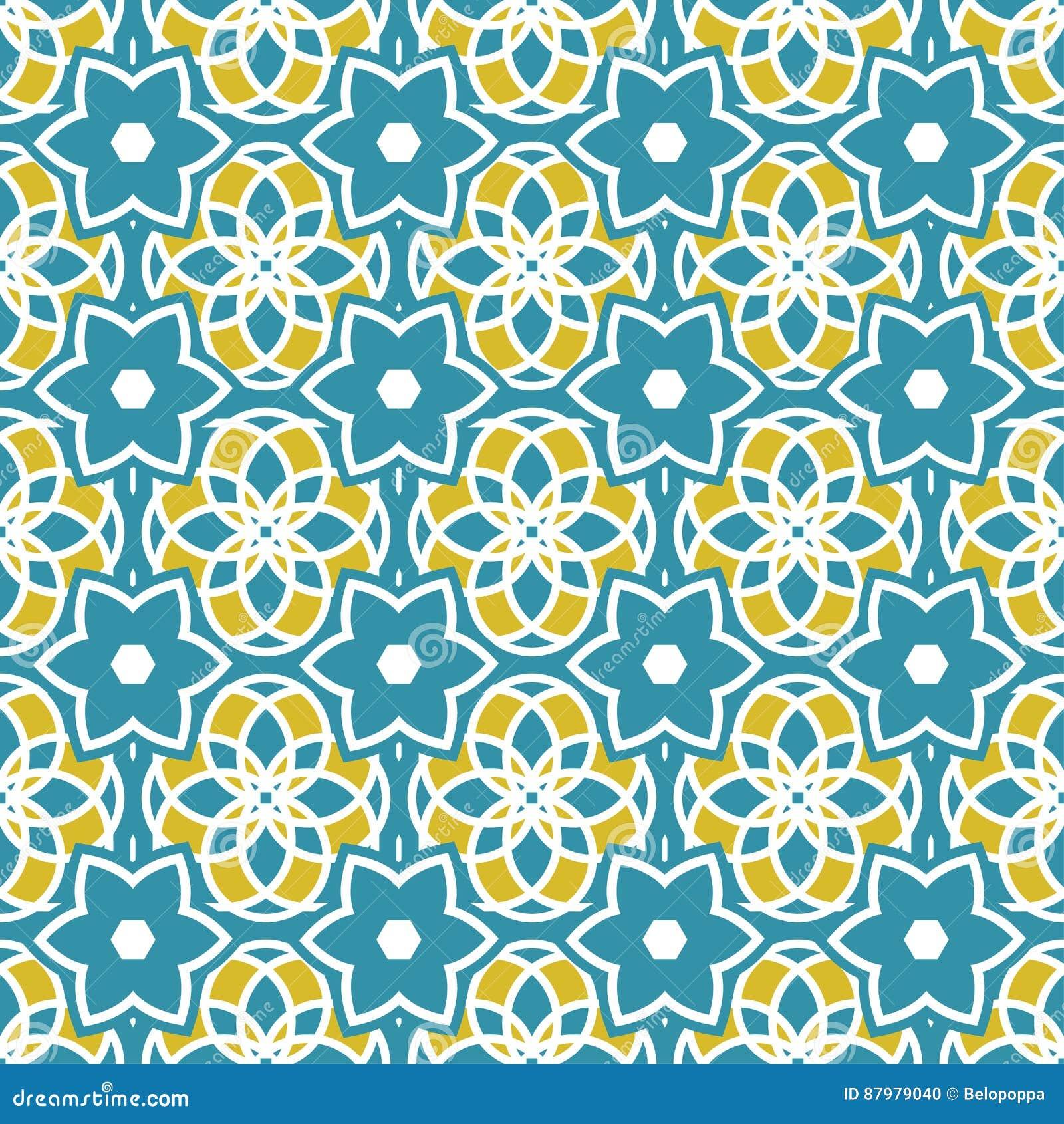 Portugisiska azulejotegelplattor mönsan seamless